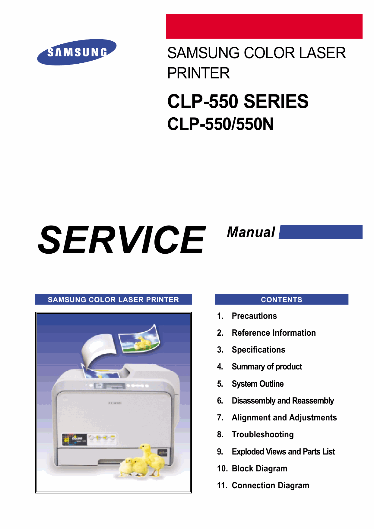 Samsung Color-Laser-Printer CLP-550 550N Parts and Service Manual-1